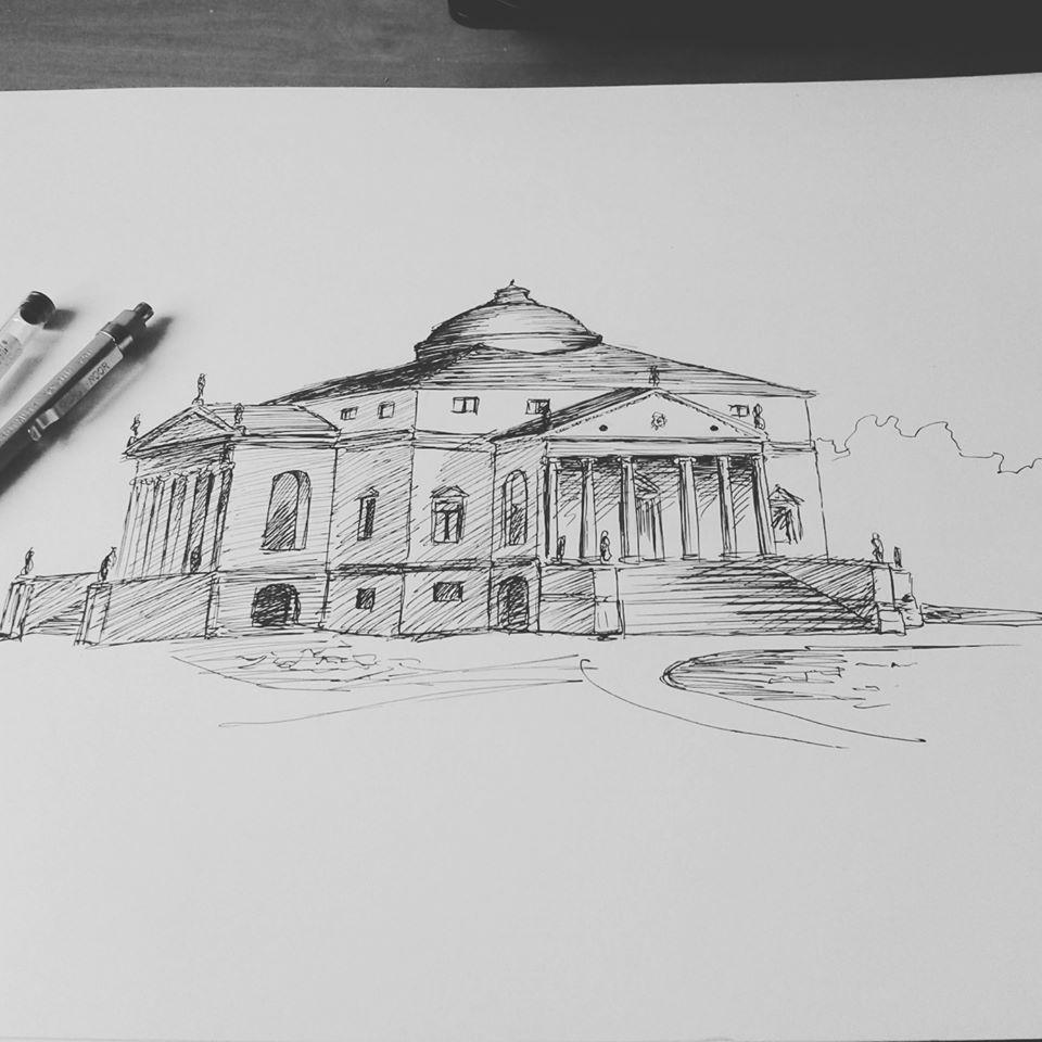 rysunek architektoniczny, Paulina Ostafin, rysunek, szkoła rysunku